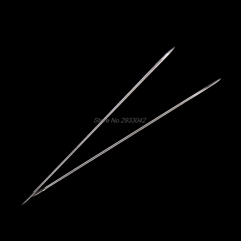 10 шт. Большой Глаз Изогнутые Бисер Threading иглы браслета DIY String-W128