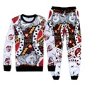 3D funny pants+sweatshirts 2 piece tracksuits funny Playing cards print sport track suits sportwear hip hop clothe