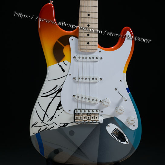 GC Custom Shop Eric Clapton Crash Rainbow Crashocaster Over the Rainbow Electric Guitar GC Custom Shop Eric Clapton Crash Rainbow Crashocaster Over the Rainbow Electric Guitar