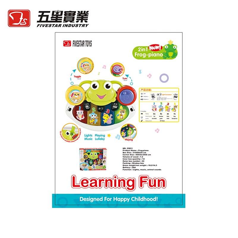 Jouets FS 1 PC 35811 grenouille-piano jouets musicaux développementaux pour enfants instrument de musique pour enfant en bas âge bébé enfants piano éducatif - 6