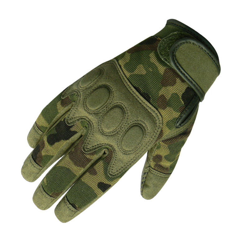 Men Tactical Full Length Long Finger Mittens Outdoor Hiking Sports Riding Anti-slip Sun Protection Camouflage Half Finger Gloves
