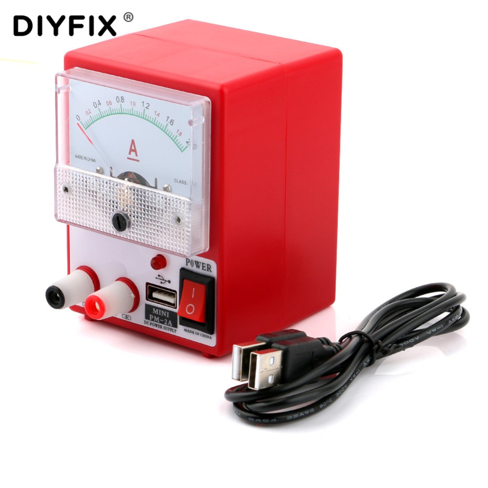 Mini DC Power Supply Ammeter For Mobile Phone Repair Tools 5V 2A Ampermetre Power Source Short Circuit Protection Test Tools