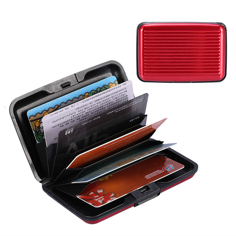 New Aluminum Metal Wallet Business ID Credit Card Case Holder Anti RFID Scanning Card Holders for Men and Women все цены