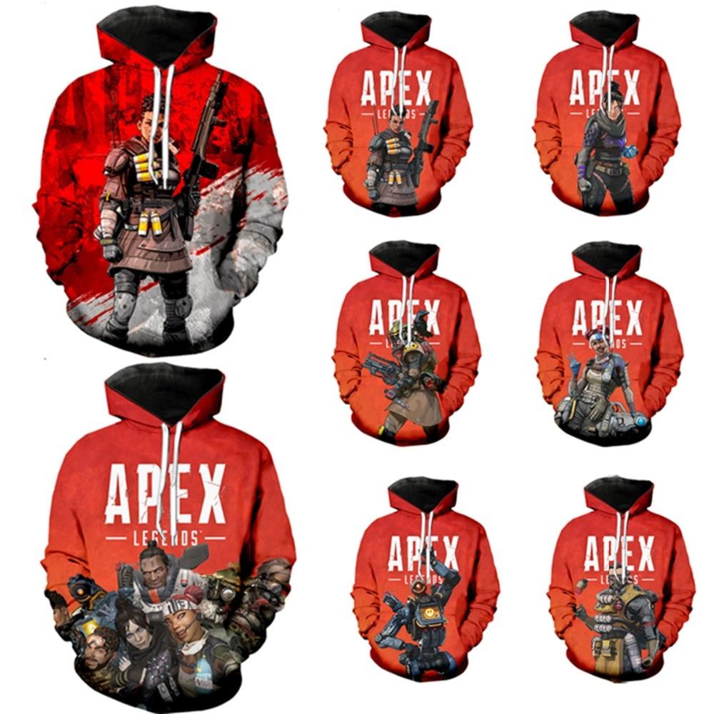 Apex Legends Cosplay Costumes 3D Print Sweatshirt Long Sleeve Women/men Clothes 2019 Hot Sale Apex Legends Casual Kpop Plus Size