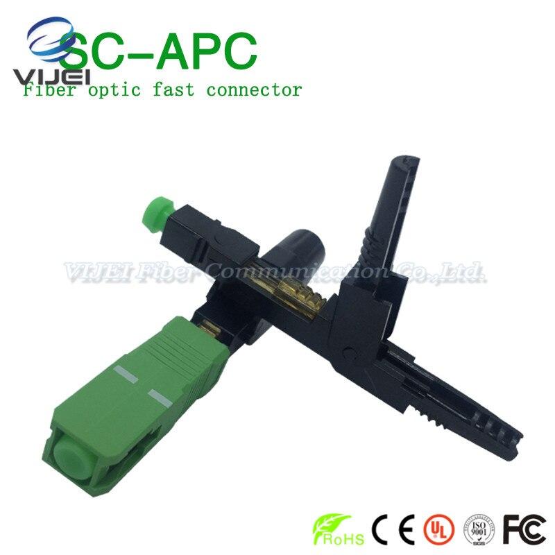 Livraison Gratuite 100 pcs/lot zhifang FTTH SC APC monomode fiber optique SC APC connecteur rapide FTTH Fiber Optique rapide Connecteur SC