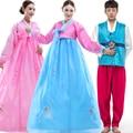 2016 Бросился Новый Disfraces Костюмы Танец полноценно Этап Этнической Вышивки Ханбок Корейский Традиционный Платье Костюм Для Женщин