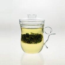 400 мл Термостойкого Стекла Teaware Травяные Цветочный Чай Кружка Теплоизоляция Чашка Фильтра