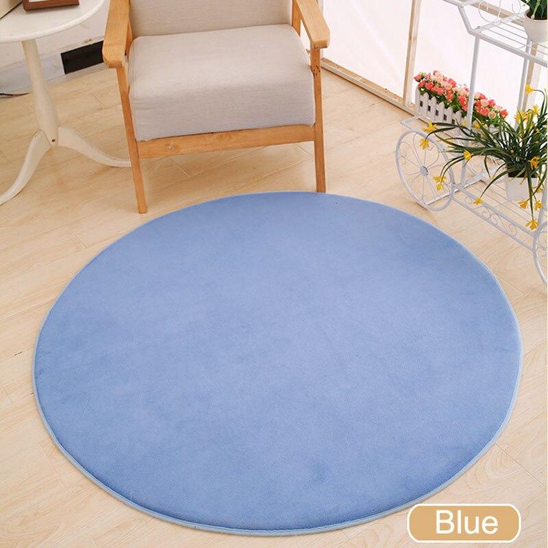 ONEONEY 80*80 простые приветственные круглые коврики с принтом для ванной, кухни, коврики для гостиной, противоскользящие - Цвет: 06