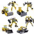 Kazi ciudad trans niños juguetes pala excavadora excavadora gigante de arcilla molino deformación robot diy building block regalo educativo