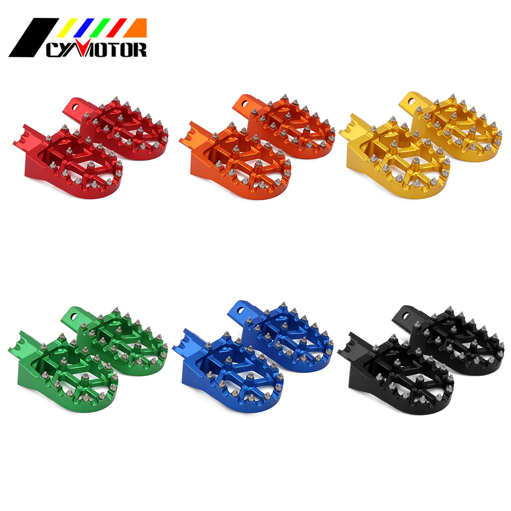 Motorcycle CNC Foot Pegs Footpegs Pedals Rests For CRF XR 50 70 110 Omp Demon X