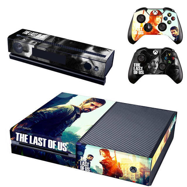 US $6 99 | for Microsoft XBOX One console Wood Grain Vinyl Sticker Decal +  2 Controller Skins sticker for xbox one console The LAST OF US on