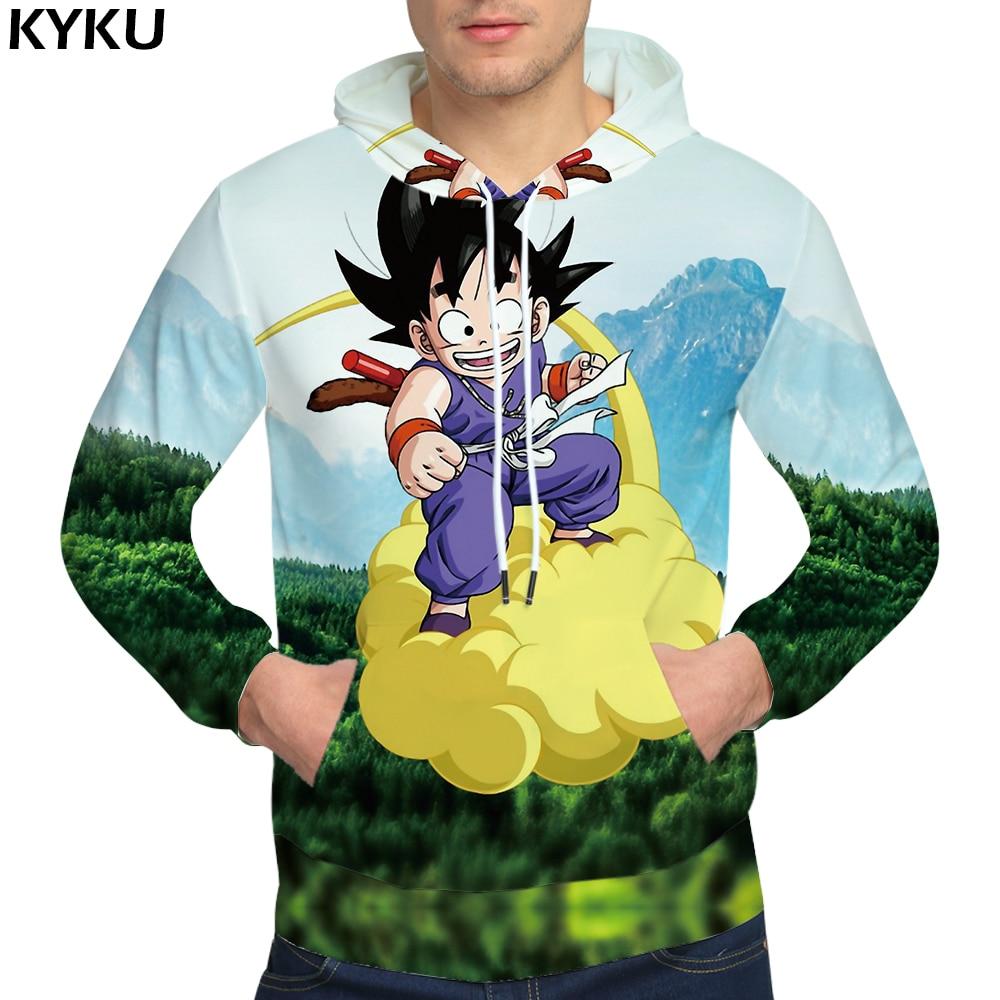 KYKU Brand Dragon Ball Z Hoodies Kid Goku 3d hoodies Gum Cloud Clothing Sweat shirt Sweatshirts Male Hoodie Men Cool Pocket
