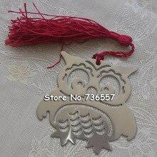 50 шт Сова монолитная металлическая Закладка с кисточкой для школы Студенческие сувениры Изысканная Закладка Свадьба для подарка