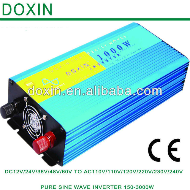 1000W Pure Sine Wave Power Inverter 12v 220v single phase dc ac