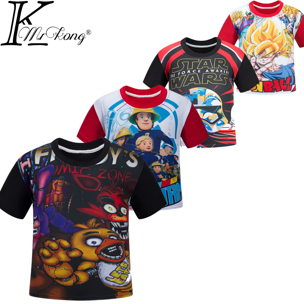Boys Clothes Cartoon Children T Shirts Five Nights At Freddy's Girls Clothing Camiseta Kids Clothes Boys T-Shirt 5 Freddys Tops