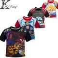 Boys Clothes Cartoon Children T Shirts Five Nights At Freddy's Girls Clothing Camiseta Kids Clothes Boys T-Shirt 5 Freddys Tops