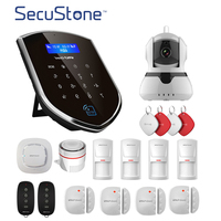 DIY Wireless Home Alarm Security Burgle System 3G GSM WIFI Sheild Host 720P IP Camera