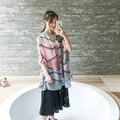 Размер 180*90 см, 2016 Новая коллекция весна Дамы Европейский стиль шелковый шарф Платок Геометрические узоры шали и шарфы женщин skyour