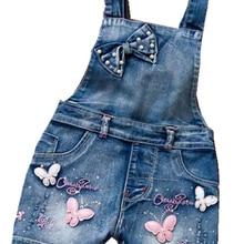 Girl Jumpsuit Jeans Short-Pants Romper Cowboy-Blue Summer Denim Cute Fashion SPRING Straps
