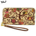 8 Color New Arrival  DESIGNER OILCLOTH VINTAGE OWL FLOWER Butterfly Horse PURSE WALLET /QQ1625