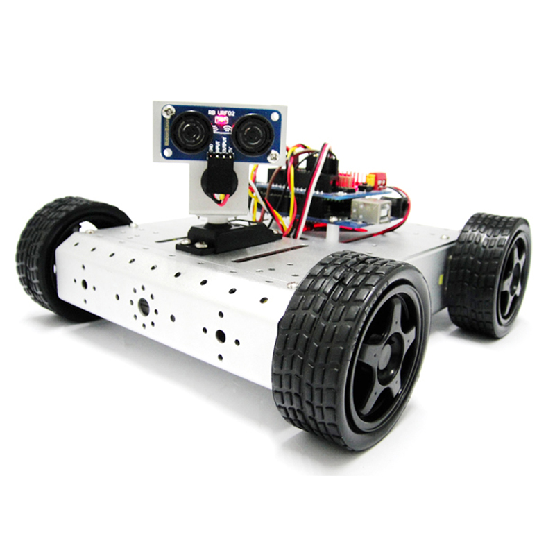 AS-4WD Ultrasonic Detection Obstacle Avoidance Robot Suite Arduino Robot Car path planning and obstacle avoidance for redundant manipulators