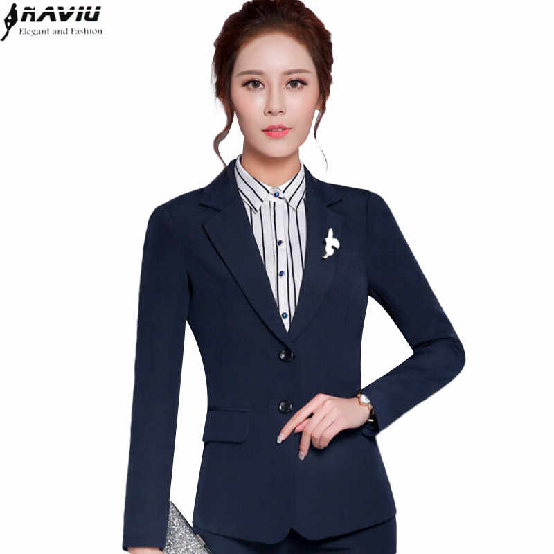 9cb95c3530f NAVIU new fashion women blazer solid color long sleeve female jacket plus  size office ladies work