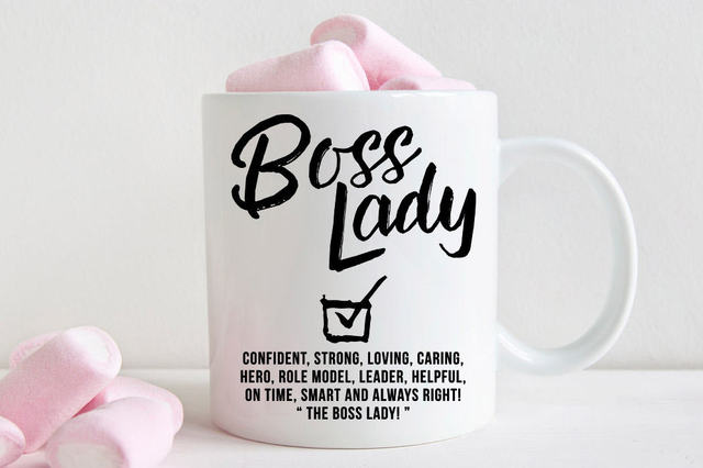 Funny Boss Lady Mug Coffee Tea Mugen Home Decal Beer
