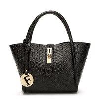 Ladies handbag fashion crocodile pattern Korean version of the purse 2017 new women fashion bag