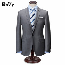 Tailor Made Suit Custom Made western style men business suits brand Bespoke Wedding Suits For Men Grey Navy 3 Pieces Wool Suit