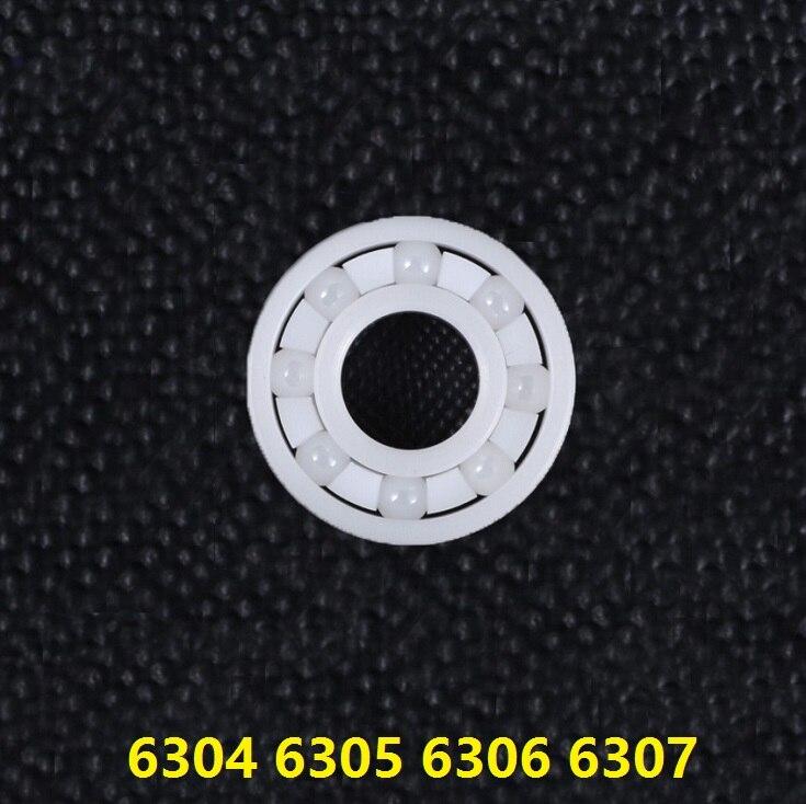 4 pièces 6304 6305 6306 6307 plein roulement En Céramique Zircone ZrO2 roulements à billes En Céramique