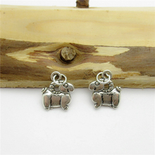 75PCS (13*12mm )Antique Silver Sheep Charms pendant fit European bracelet made diy Pendants for jewelry making