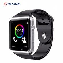 А1 smartwatch smart watch с камерой bluetooth фитнес-шагомер ответ на вызов поддержка sim tf для android ios смарт-часы