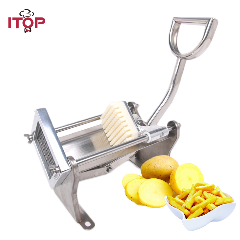 ITOP French Fry Cutters Carrot Potato Chip Slicers Machine Vegetable Fruit Cutters Stainless Steel Kitchen Tools With 3 Blades ps 336h manual roller shredder slicers tool cut fruit multi function stainless steel fruit vegetable tools mo powde shredding