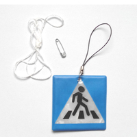 Sidewalk model reflective pendant reflective keychain for visible safety dangled on bag mobile phone clothing free.jpg 200x200