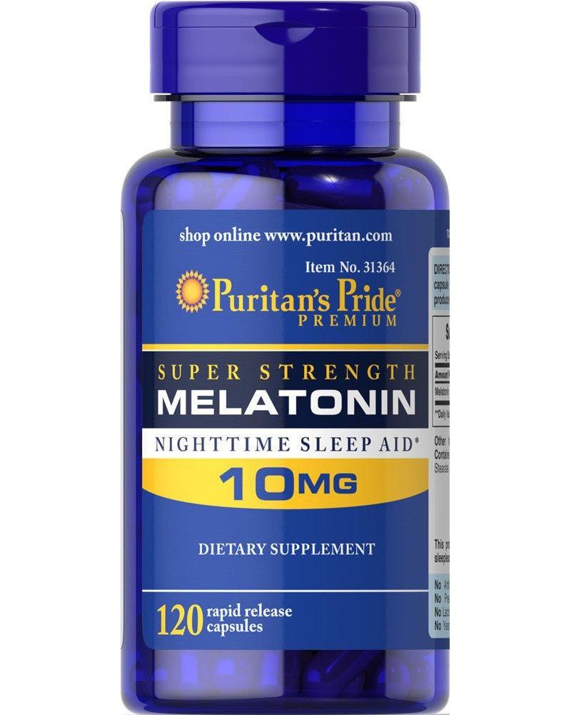 Super Strength Melatonin 10mg*120 pcs Help improve sleep nighttime sleep aid free shipping free shipping melatonin 3 mg 240 pcs