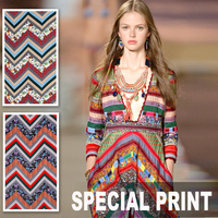 140CM Wide 280G M Weight Specail Print Viscose Polyester Fabric For Spring And Summer Dress Shirt