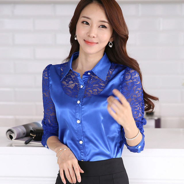 Satin Lace Blouse 17