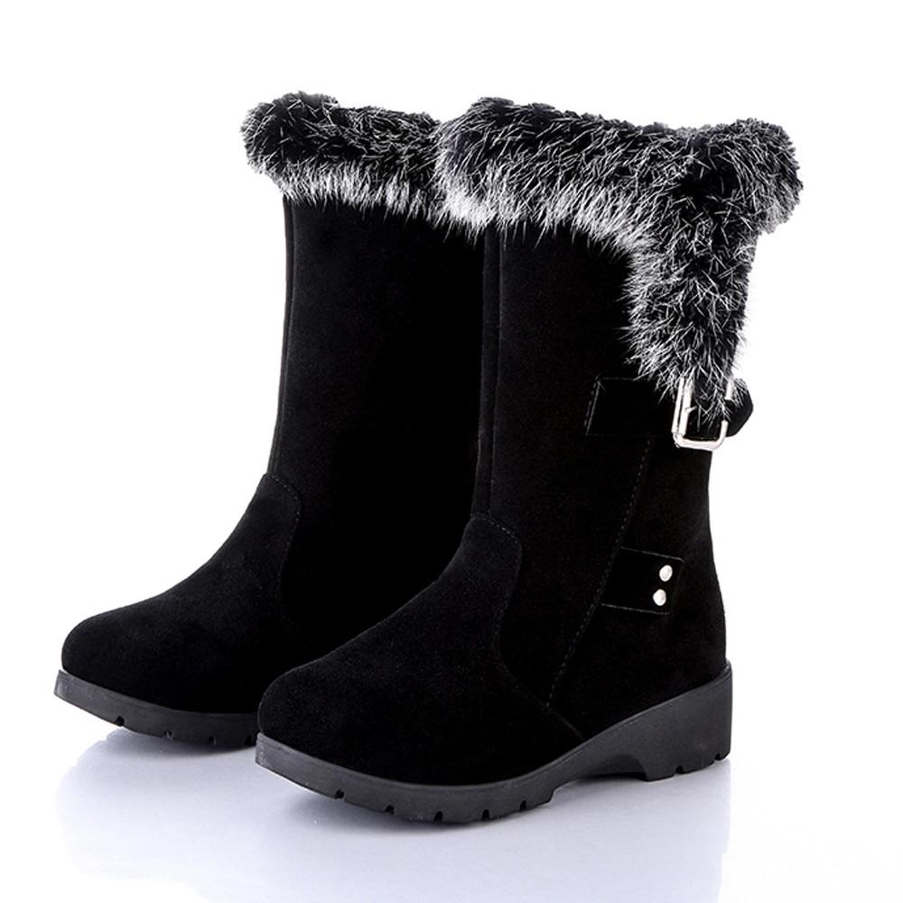 Nouveau Mujer De Bottes Botas Invierno Negro 2018 Zapatos Femme OqFx0
