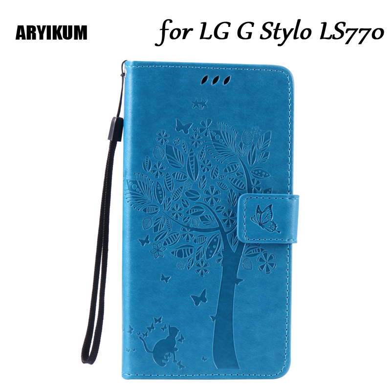 ARYIKUM Retro Mobile Phone Cases For LG LS770 H634 H631 PU Leather Wallet Flip Cover Wallet Case For LG G Stylo/G4 Stylus 4G
