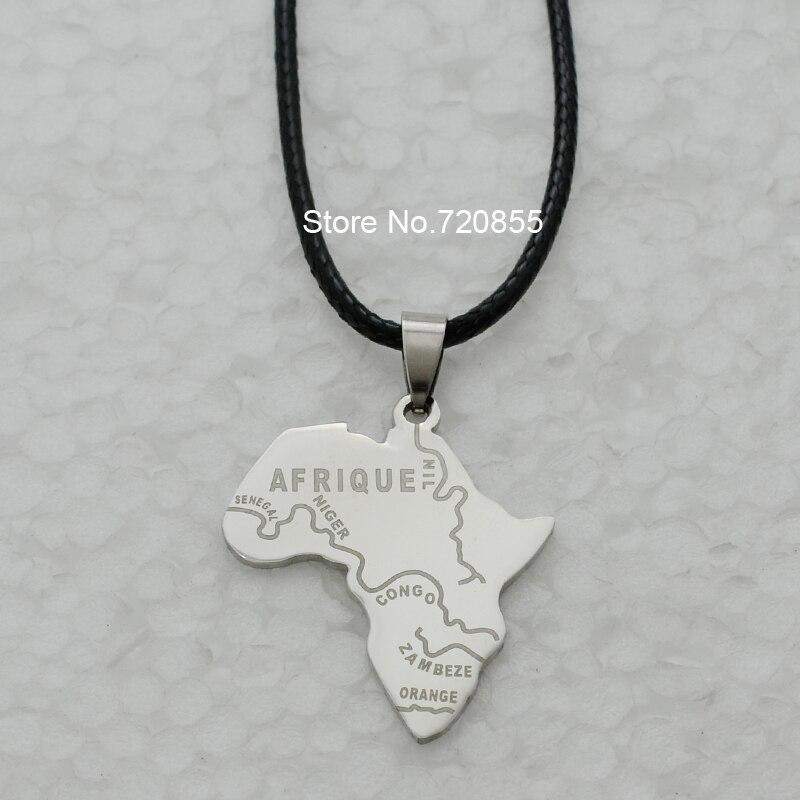 Anniyo 8 stylemap of africa pendant necklace chain 45cm60cm anniyo 8 stylemap of africa pendant necklace chain 45cm60cm african map set audiocablefo