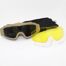 Black Tan Airsoft Tactical Goggles USMC Military Tactics Sunglasses Glasses Army Paintball
