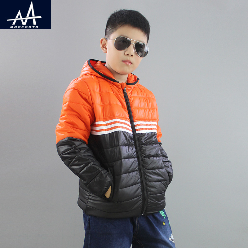 2017 New Style Winter Children Hooded Jacket  Boys Parka Coat Loose Teen Boy Coat Jacket Outwear Jacket Fat Boys Age 9-10-11-12Y hot style three points children quilted loose coat