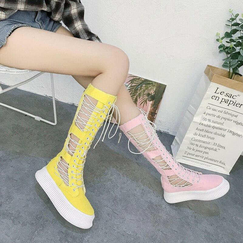 Printemps nouveau denim fond épais pente de pin avec ac pantalon de cheval élastique marque de chaussures blanches