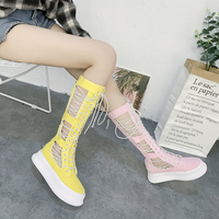 Spring new denim thick bottom pine slope with ac elastic horse pants off white shoes brand
