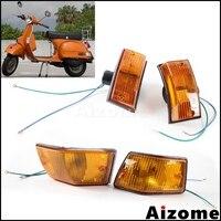 Motorrad Blinker Vorne und Hinten Blinker Lichter Für Vespa P PX VSX VNX Stella Blinkers Flash Lichter