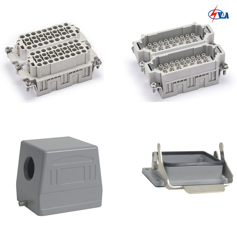 HEE-064 64 pins 16a voltage 500v a whole set heavy duty connector whole set selling 16 folding mother