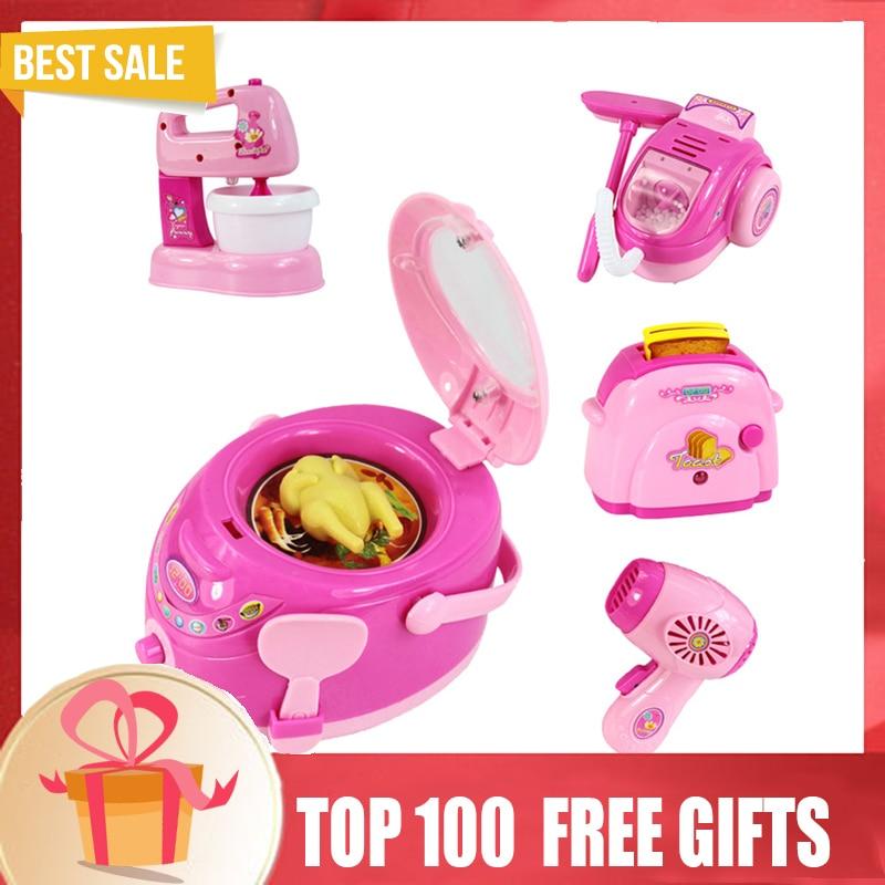 Kawaii Мини бытовой Ролевые игры Кухня детей Игрушечные лошадки холодильник печь риса образовательных прибор Обувь для девочек игрушка M021