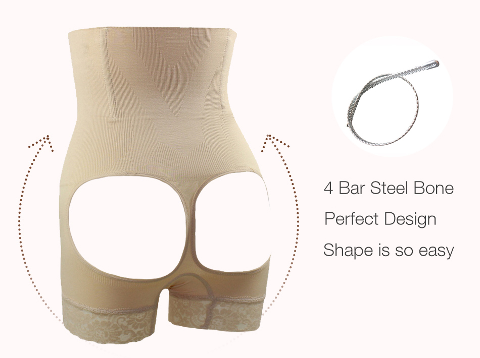 66307f701 Solid Butt Lifter With Tummy Control Underwear Slimming Shorts Women Booty  Lifter Sexy Lingerie Bottom With Lace Design. 1 2 3 4 ...