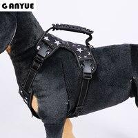 Ganyue Medium Large Dog 3M Reflective Nylon Harness With Handle Pet Service Big Dog Vest Padded