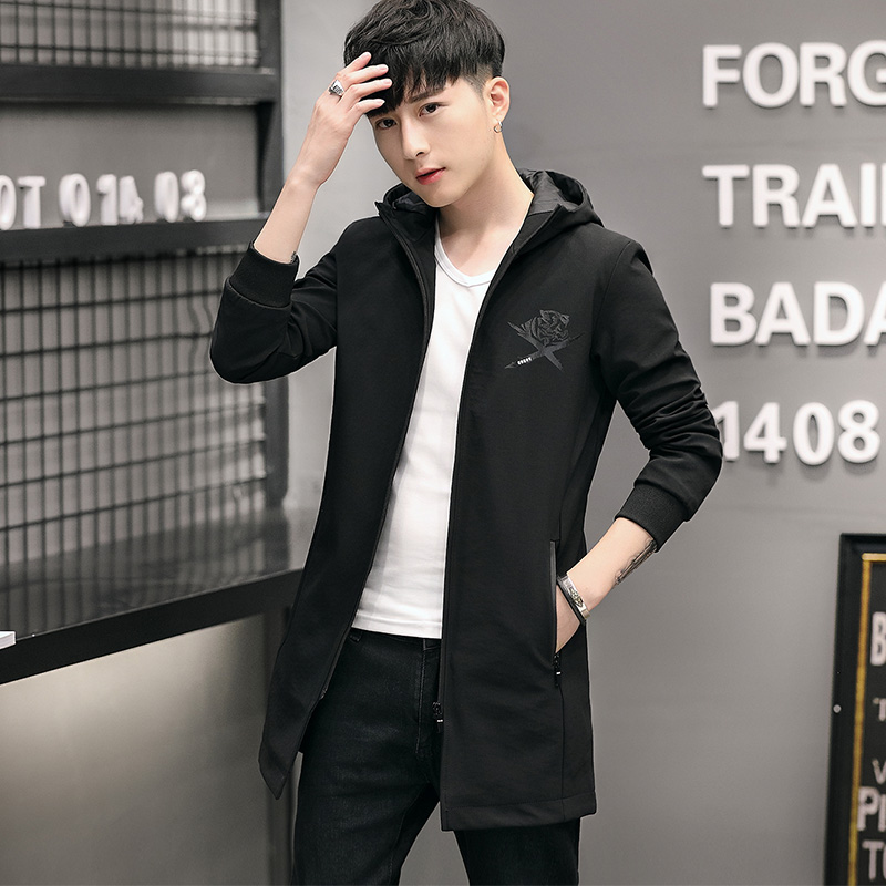 100% polyester Paragraph dust coat grows in autumn and winter youth coat blazer jacket male JK07 - P85 44